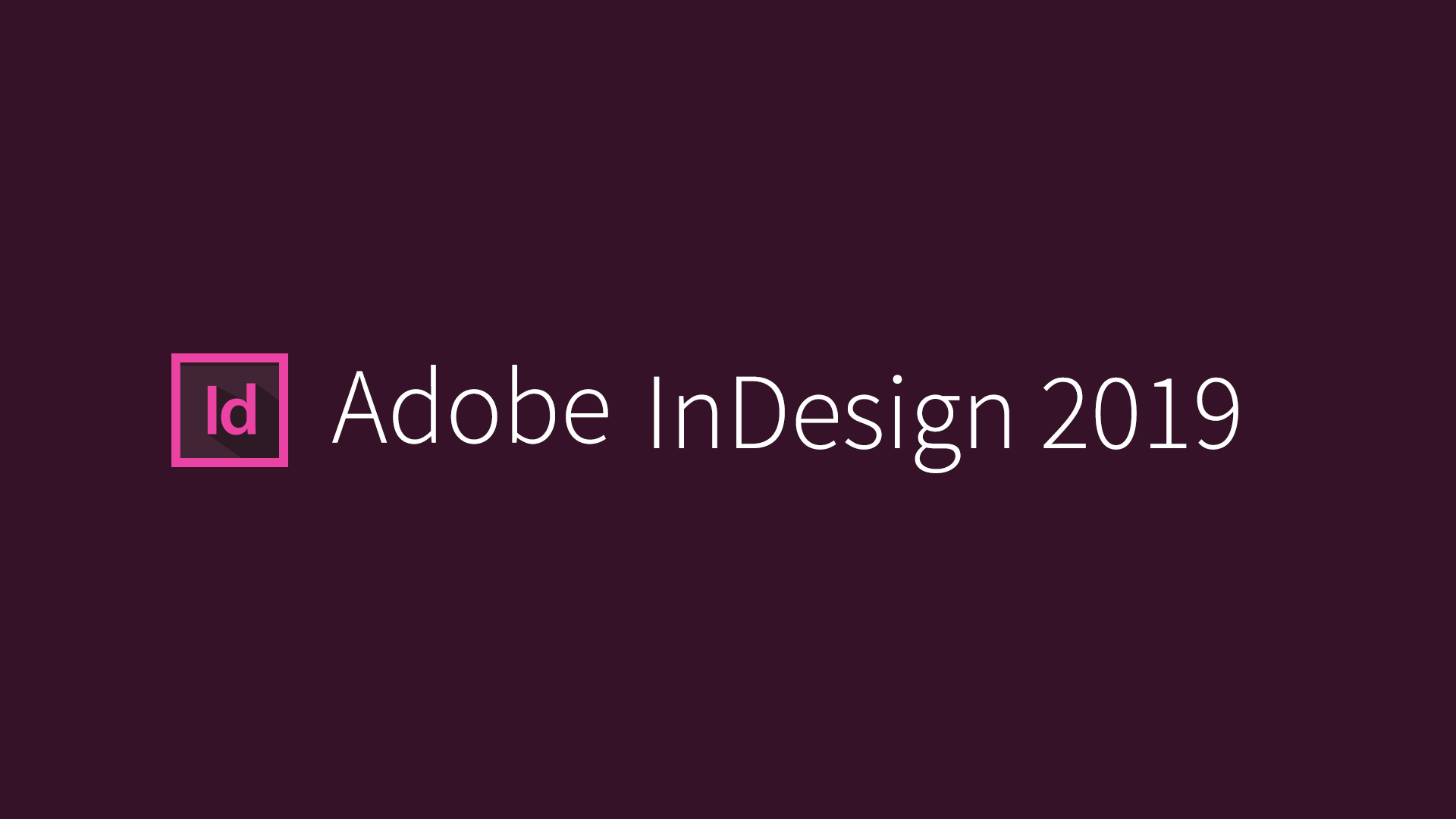 Adobe InDesign CC 2019 Free Download